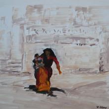 La femme et l'enfant - Daipur    - VENDU -